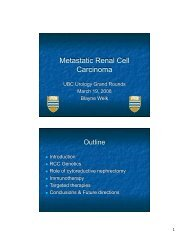 Metastatic Renal Cell Carcinoma - Urology Rounds