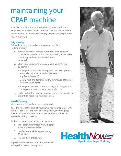 maintaining your CPAP machine - HealthNow New York