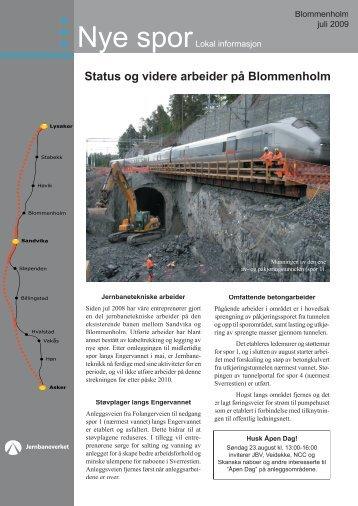 Nye spor Blommenholm juli 2009.indd - Jernbaneverket