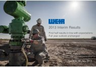 2013 Interim Results - The Weir Group