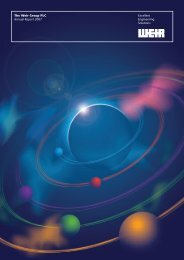 The Weir Group PLC Excellent Annual Report 2007 Engineering ...