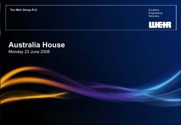 Australia House - The Weir Group