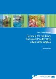Review of the regulatory framework for alternative ... - EPA Victoria