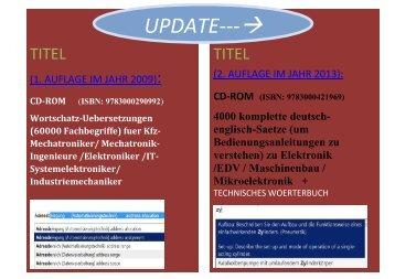 Update Kfz-Woerterbuch