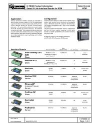 Smart K-Link Interface Boards for KCM
