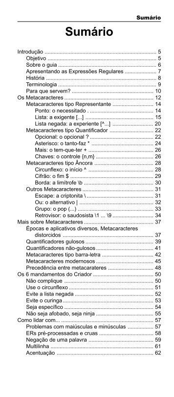 Sumário - Novatec Editora