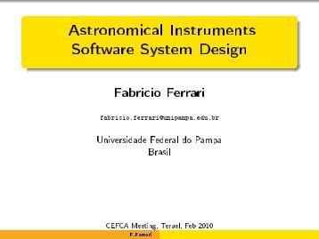 Astronomical Instruments Software System Design - Fabricio Ferrari ...