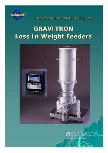 臺灣杉毅事業有限公司 GRAVITRON Loss In Weight Feeders