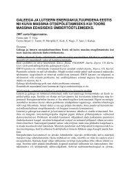 Galeega ja lutsern energiakultuuridena Eestis nii ... - bioenergybaltic