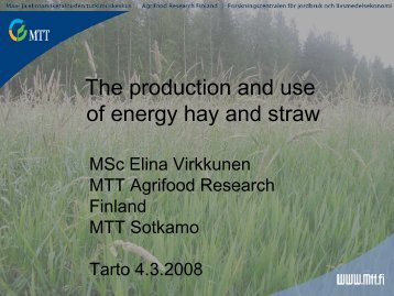 Energy hay and straw (PDF) - bioenergybaltic