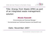 Title: Energy from Waste (EfW) as part of an ... - bioenergybaltic