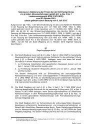 Satzung zur Abänderung der Fristen bei der ... - Stadt Wegberg