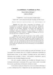 Título: Acessibilidade e Usabilidade na Web Autor(es) - sucesu-mt