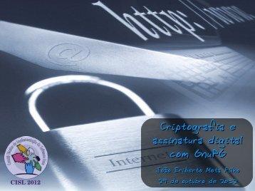 Criptografia e assinatura digital com GnuPG - Eriberto.pro.br