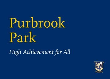 Download our Prospectus in PDF - Purbrook Park School