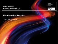 2009 Interim Results - The Weir Group