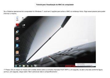 Tutorial para achar o MAC no Windows 7 - FCAT