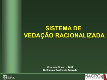 vedação racionalizada - PDE Brasil
