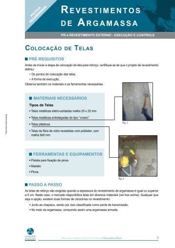 REVESTIMENTOS DE ARGAMASSA - Comunidade da Construção