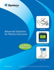 Advanced Solutions for Plastics Extrusion - Dynisco Instruments