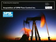 Acquisition of SPM Flow Control Inc. - The Weir Group