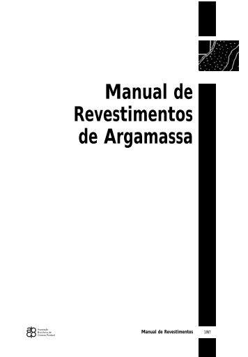Manual de Revestimentos de Argamassa - Comunidade da ...