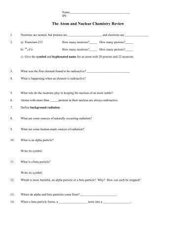 nuclear chemistry worksheet answers free worksheets library download and print worksheets. Black Bedroom Furniture Sets. Home Design Ideas