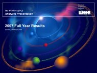 2007 Full Year Results - The Weir Group