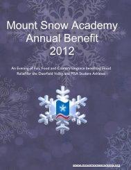 Mount Snow Academy Annual Benefit 2012