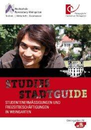 Studies Stadtguide 2012 - Weingarten.IN
