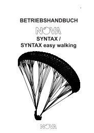 BETRIEBSHANDBUCH SYNTAX / SYNTAX easy ... - Nova Paragliding
