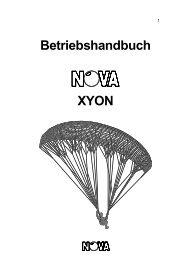 Betriebshandbuch XYON - Nova Paragliding