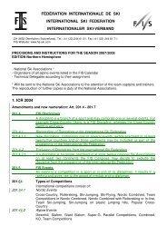 fédération internationale de ski international ski federation ...