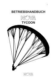 BETRIEBSHANDBUCH TYCOON - Nova Paragliding