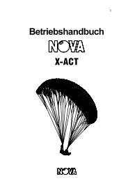 Betriebshandbuch X-ACT - Nova Paragliding