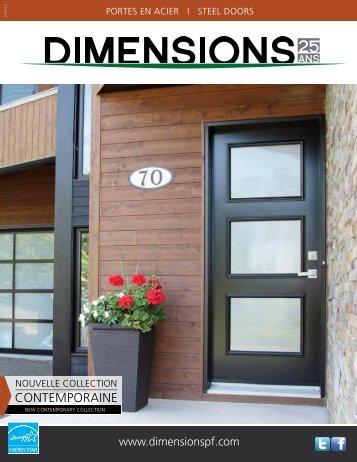 portes d'acier - Portes Dimension