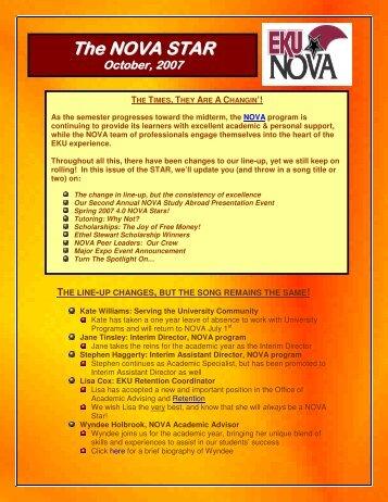 October, 2007 - NOVA - Eastern Kentucky University