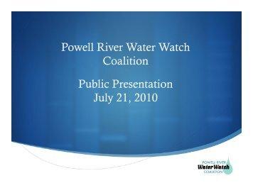 WWC Skadsheim Powerpoint 21JUL2010 - Powell River Water Watch