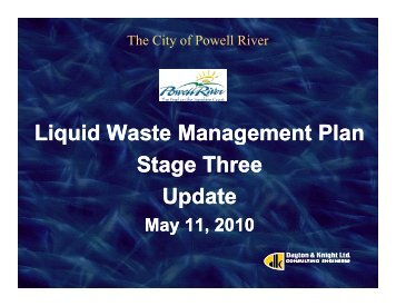 Stage 3 Presentation May 11 2010 - Powell River Water Watch