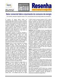 Setor comercial lidera crescimento do consumo de energia - EPE