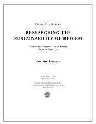 CROSS-SITE Executive Summary - Researching the Sustainability ...