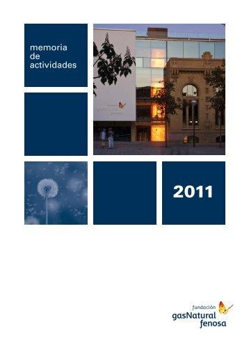 memoria de actividades - Fundación Gas Natural Fenosa