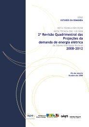 Projeção Consumo de Energia 2008-2012 - EPE