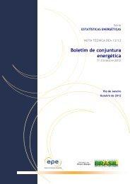 Boletim de Conjuntura Energética - 1º trimestre 2012 - EPE