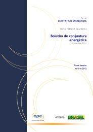 Boletim de Conjuntura Energética – 3º trimestre 2011 - EPE