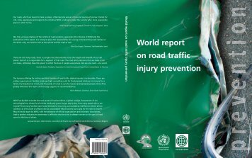 World report on road traffic injury prevention edited by M ... - teach-vip