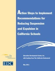 Action Steps to Implement Recommendations for ... - Promote Prevent