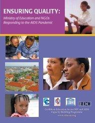 ENSURING QUALITY: - Health and Human Development