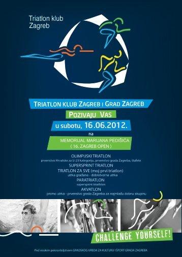 """( 16. ZAGREB OPEN ) - Triatlon klub """"Zagreb"""""""