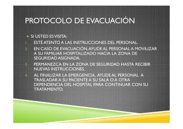 PROTOCOLO DE EVACUACIÓN - Hospital y CRS El Pino
